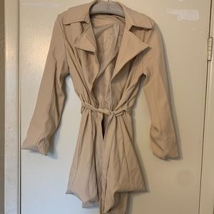 Amaryllis tan beige wrap coat